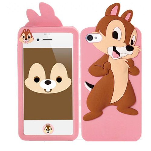 My8 New 3D Cartoon Chip Soft Silicone Rubber Case Skin Protector Cover for Apple iPhone 5 5G 5th