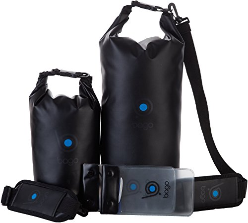 Bago Dry Bags Set - SEE-THROUGH Waterproof Window. Plus Cell