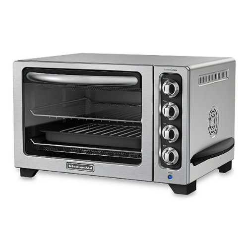 The 12'' Of Kitchenaid Silver Convection Bake Countertop Oven