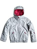 Roxy Tailfish Jk Girls' Hooded Snowboard Jacket in Metal Colour
