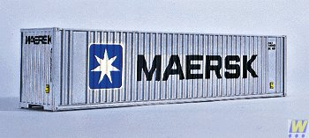 Walthers N Scale 40' High-Cube Intermodal Shipping Container Maersk (Model Shipping Container compare prices)