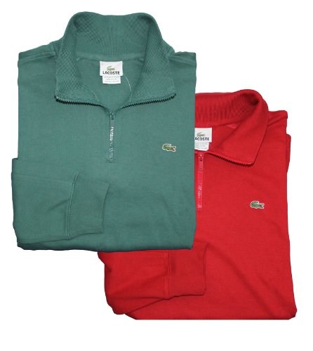 Lacoste Mens Half-zip Interlock Sweatshirt
