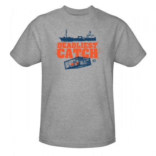 Deadliest Catch Crab Pot T-Shirt - Heather Grey, XL