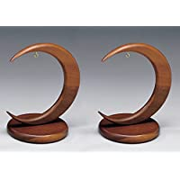 Arc-shaped Walnut Wood Ornament Stand 4