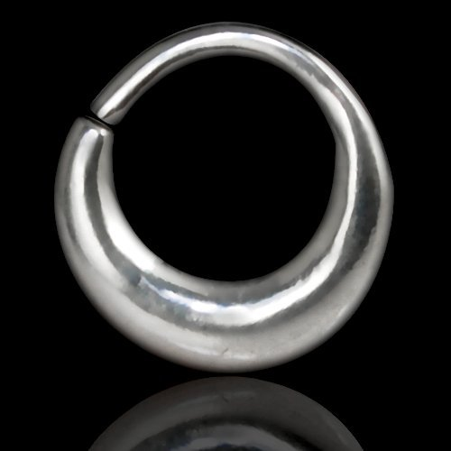 Septum Piercing Orientale da Setto Nasale in Argento Septum Ring Indian Ornamental Silver 8
