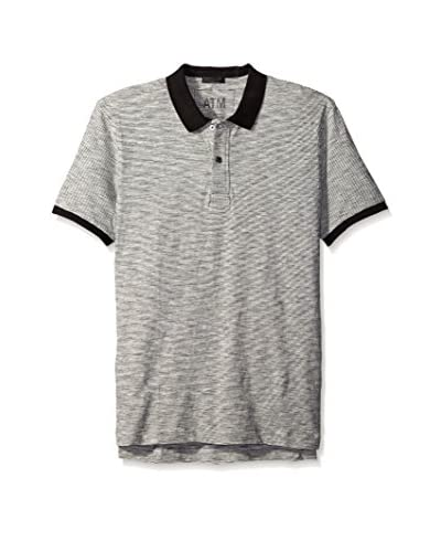 ATM Anthony Thomas Melillo Men's Striped Slub Polo Tee