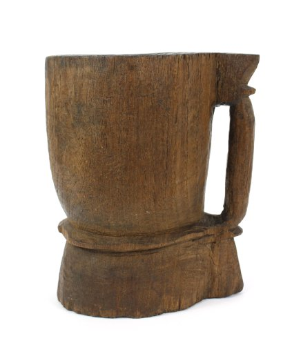 Antique mortar - Teakwood with handle, Style B