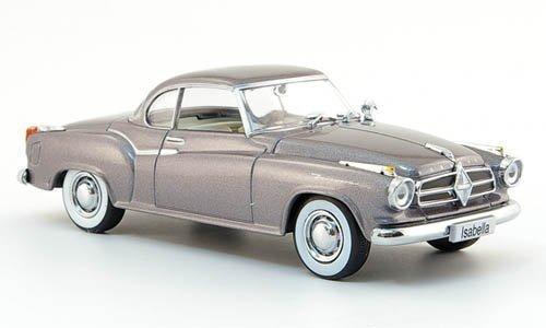 Borgward Isabella Coupe, met.-grau, 1957, Modellauto, Fertigmodell, Auto-Klassiker 1:43