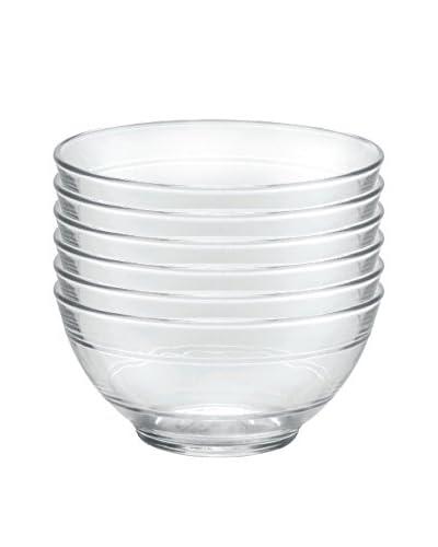 Duralex Lys Parisien Bowl 18 Oz-Set of Six, Clear
