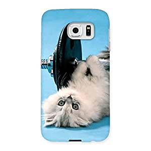 Delighted Fit Cat Multicolor Back Case Cover for Samsung Galaxy S6