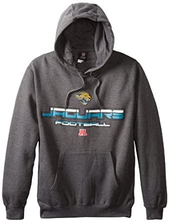NFL Jacksonville Jaguars First And Goal V Hooded Sweatshirt, Charcoal Heather, Medium by VF LSG