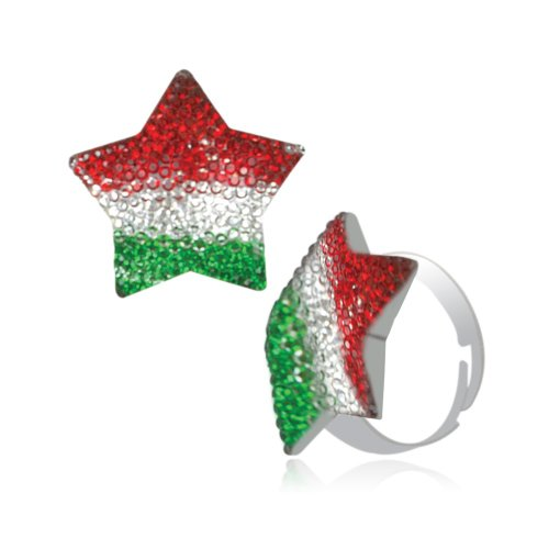 Mischika MultiColoured Star Adjustable Ring for Women