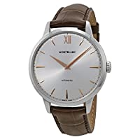 Montblanc Meisterstuck Heritage Automatic Silver Dial Brown Leather Mens Watch 110695 from Montblanc