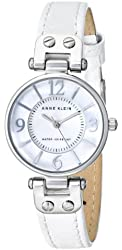 Anne Klein Women's 10/9889MPWT Watch with Leather Band