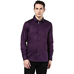 MENS COTTON SHIRT PURPLE XL