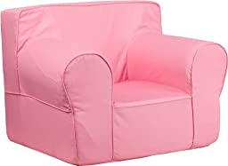 Oversized Solid Light Pink Kids Chair