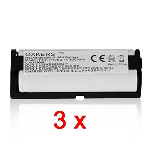 Oxkers 3 Packs Battery For Uniden Bbtg0658001 Bt1009 Bt-1009 Exp10000 Exp-10000, Lenmar Cb0105 Cb-0105 Rechargeable Cordless Phone 800Mah