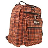JanSport Big Student Backpack (Chocolate Chip/Orange/JS Tartan 1)