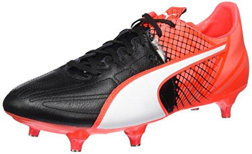Puma Evospeed 3.5 Lth Sg Scarpa da Calcio, Nero (Schwarz (black-puma White-Red blast 01)), 11