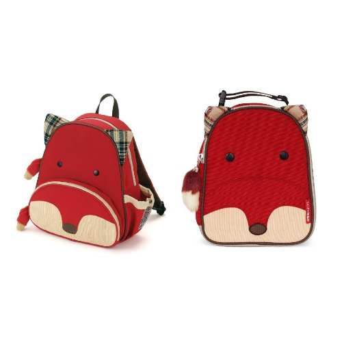 Skip Hop Zoo Backpack and Lunchie Set, Fox - 1