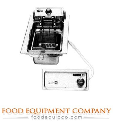 Wells F-586 Fryer drop-in electric single pot automatic basket lifts 15 lb. fat (Drop In Fryer compare prices)