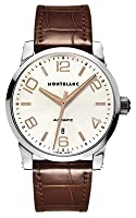 Montblanc Timewalker Automatic Silver Dial Brown Leather Mens Watch 101550 by Montblanc