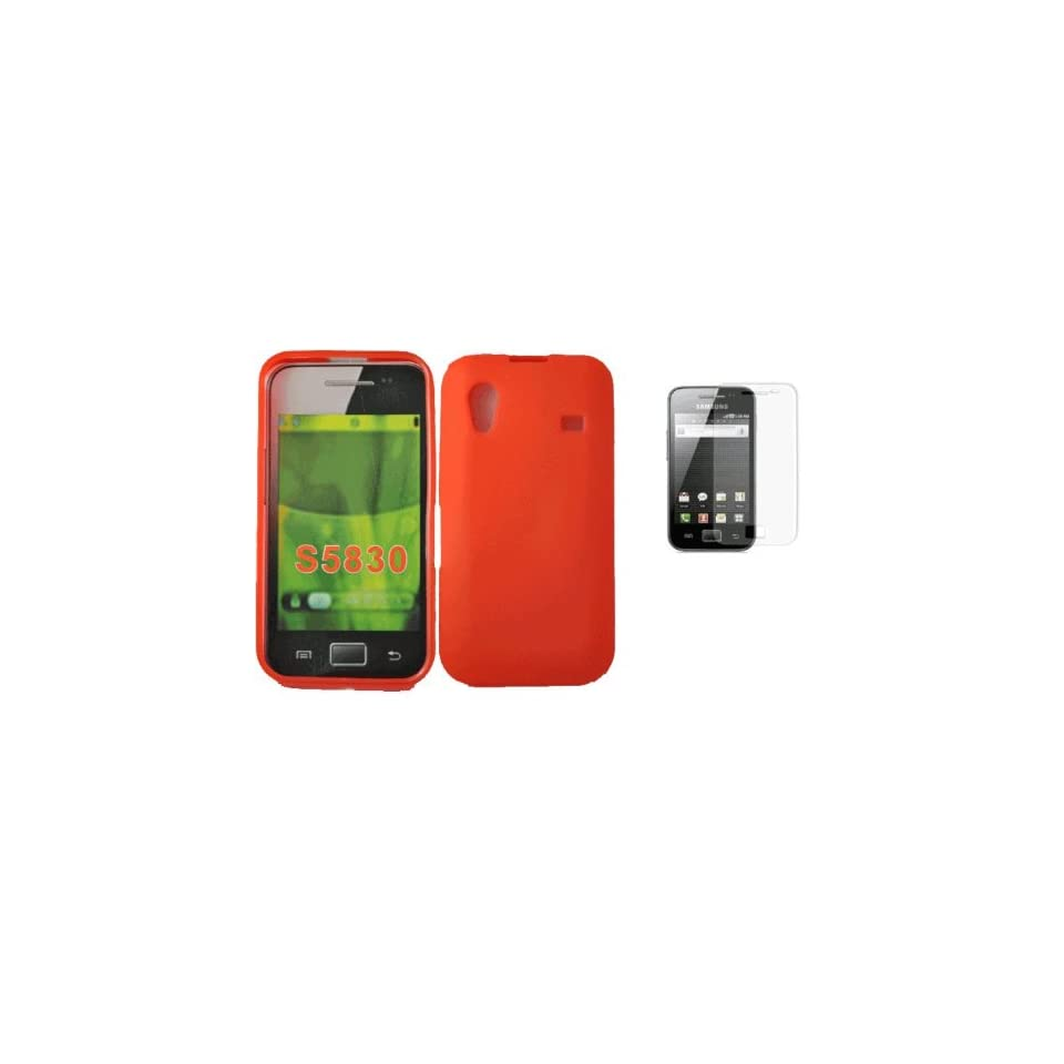 Mobile palace   Red gel skin case cover pouch with screen