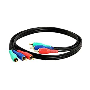Cmple - Component Video Cable 3-RCA Gold HDTV RGB YPbPr - 3 FT