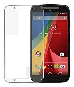 Motorola Moto G (2nd Gen) Compatible Tempered Glass Screen Protector (Antishock, Curved Edged) (Pack of 2, Only Front Transparent) (Combo Offer, get a VJOY 2600 mAh Power-Bank VIOLET (1 Year Replacement Guarantee, Lithium Polymer Battery, Long Battery-Life) worth Rupee 999/- absolutely free with Screen Protector)