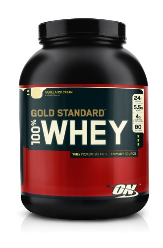 Optimum Nutrition Gold Standard 100% Whey 2270 g Vanilla Ice Cream Protein Shake Powder