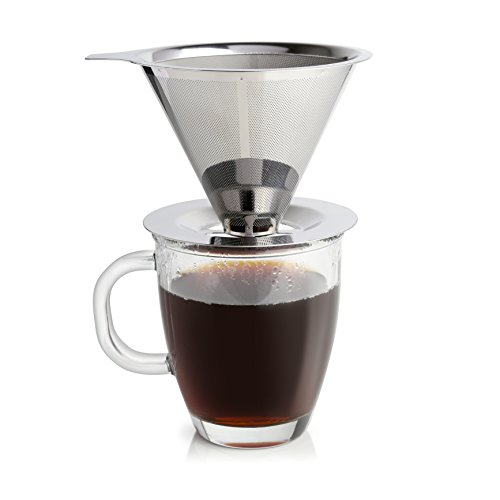 Ruzels Stainless Steel Coffee Dripper Non Electric Single Serve