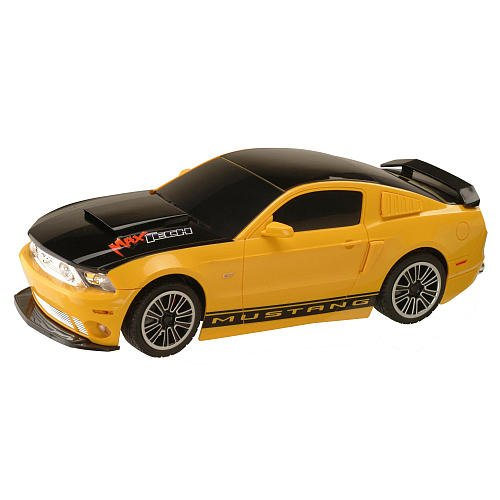 Maxx'd Out 1:10 Scale Radio Control Car - Ford Mustang - Yellow/Black