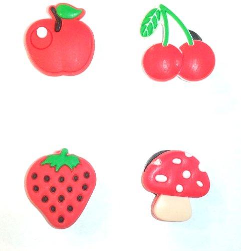 Fruits 4 pc Shoe Charms Set - Jibbitz Croc Style