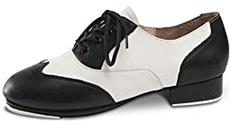 Applause Black and White Spectator Tap Shoe (6.5WIDE)