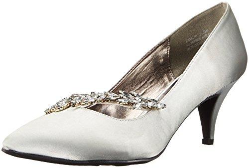 Annie Shoes Women's Danbury Wide Calf Dress Pump, Silver, 12 W US