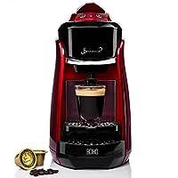 Bonhomia Boho BB01R 1200-Watt Single-Serve Espresso Coffee Machine (Red)