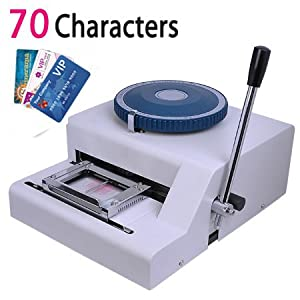 embossing machine for plastic cards
