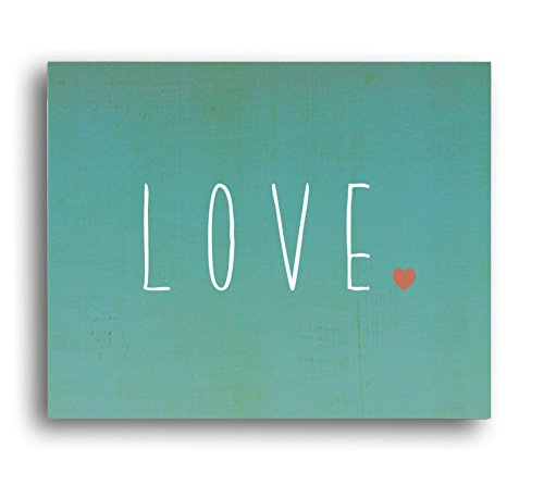 "Kid's Wall Art ""Love"" 14x11 Print for Boys, Girls or Baby's Room, Nursery Decor"