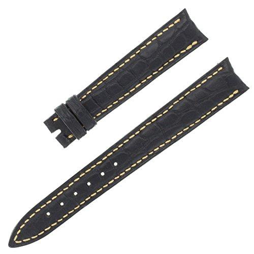 franck-muller-14-12-mm-echt-alligator-leder-schwarz-armbanduhr-band