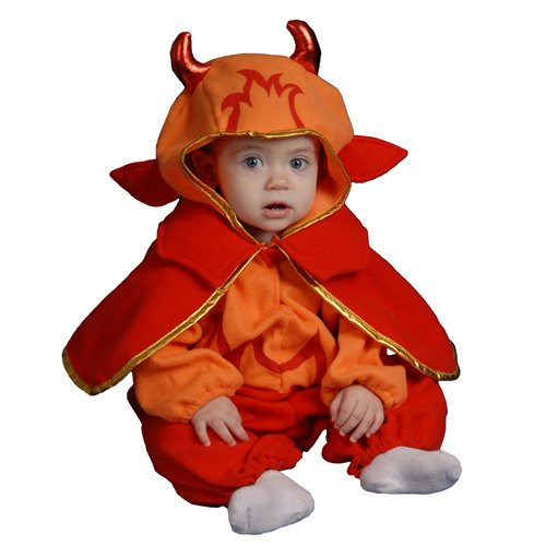 Dress Up America Infant Little Devil, Red, 0-12 Months