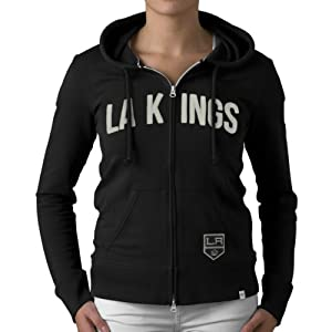 NHL Los Angeles Kings Pep Rally Full Zip Fleece Jacket, Jet Black by