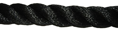 T.W . Evans Cordage 106430 1-1/2 Inch x 30-Feet Black Poly Training Rope