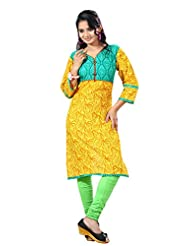 Arista Designer Ready To Wear Yellow Kurti Size - 38 (KR94)