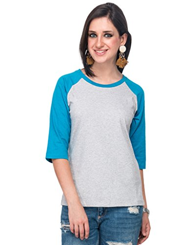 Campus-Sutra-Off-White-Women-Round-Neck-Quarter-Sleeve-T-Shirt-Three-Monkey