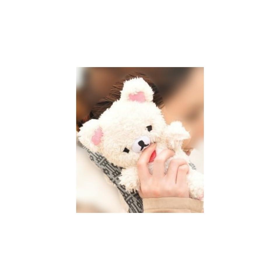 3D Cute Teddy Bear Doll Plush Cover Case For LG Optimus L9 P760 P769 (White)