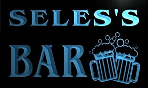 w101064 b SELES Name Home Bar Pub Beer Mugs Cheers Neon Light Sign