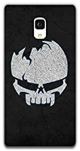 The Racoon Grip Borken Skull hard plastic printed back case / cover for Xiaomi Redmi