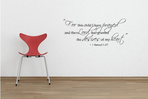1st Samuel 1:27 Bible Quote - Vinyl Wall Art Decal Stickers Decor Graphics