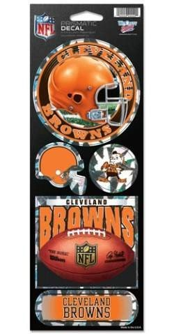 NFL Cleveland Browns Prismatic Stickers, Team Color, One Size (Cleveland Browns Auto Decal compare prices)