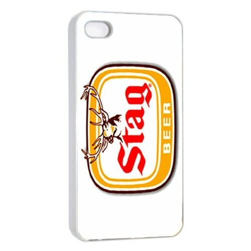 amazoncom stag beer logo case for iphone 44s white